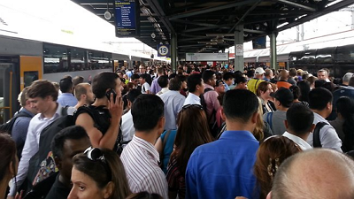 CityRail leaves passengers in limbo, Central Station, Sydney