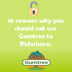 10 reasons you should not use gumtree to rideshare