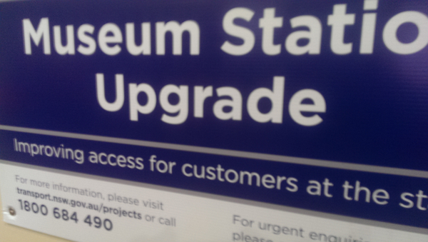 Sydney Trains Museum station being upgraded means no ticket window sales