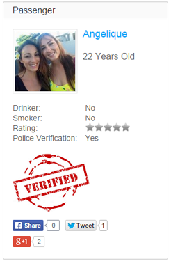LifeSocial Rideshare Safety Check Verification.
